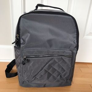 NWOT DSW grey quilted backpack